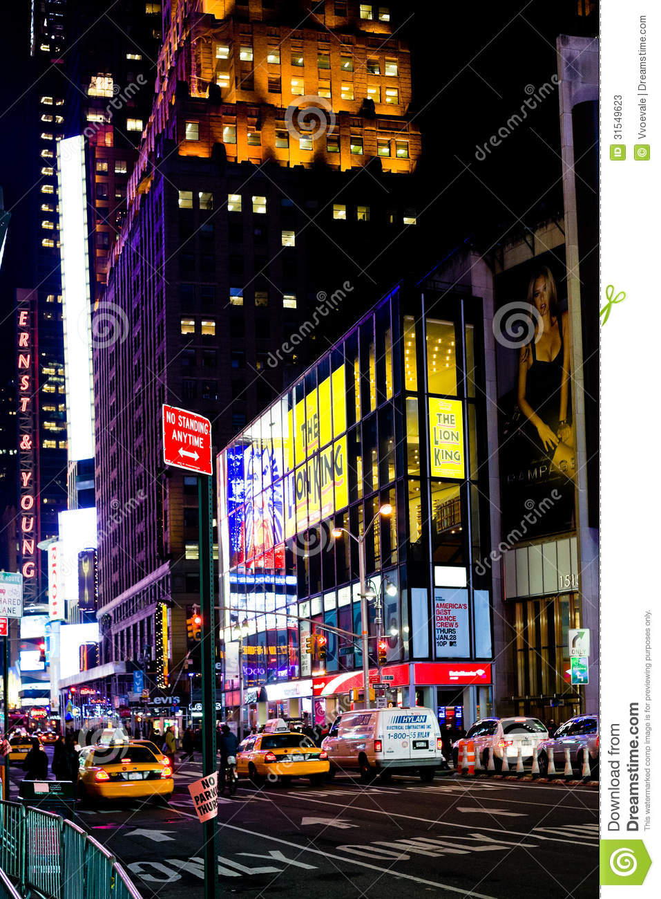 Broadway near times square at night ny editorial stock for What to do around times square