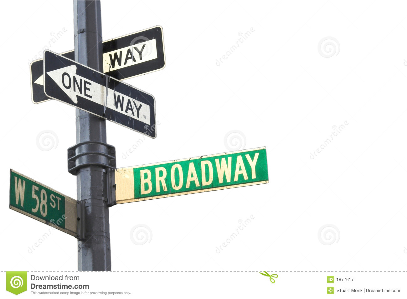 Broadway Sign Royalty Free Stock Photography - Image: 1877617