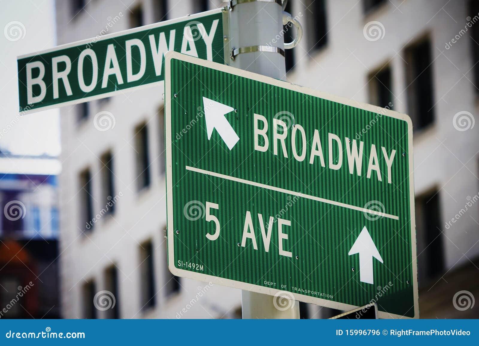 Broadway-Straßenschild