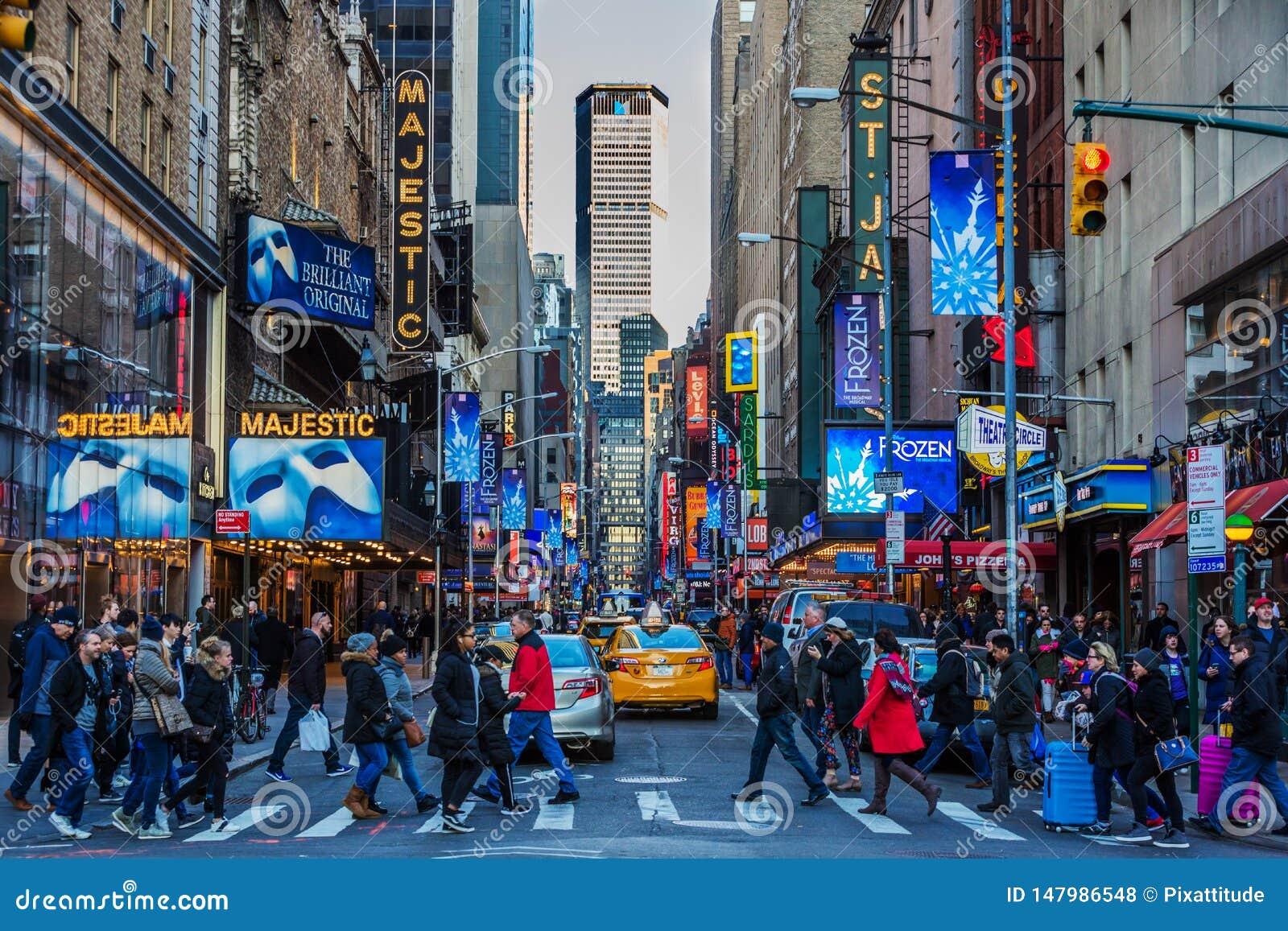 Broadway teatru Manhattan punkt?w zwrotnych Miasto Nowy Jork Gromadzki usa