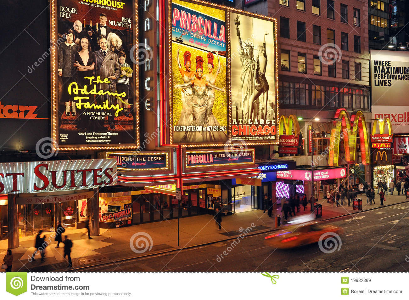 Broadway Theater District Editorial Stock Image - Image: 19932369