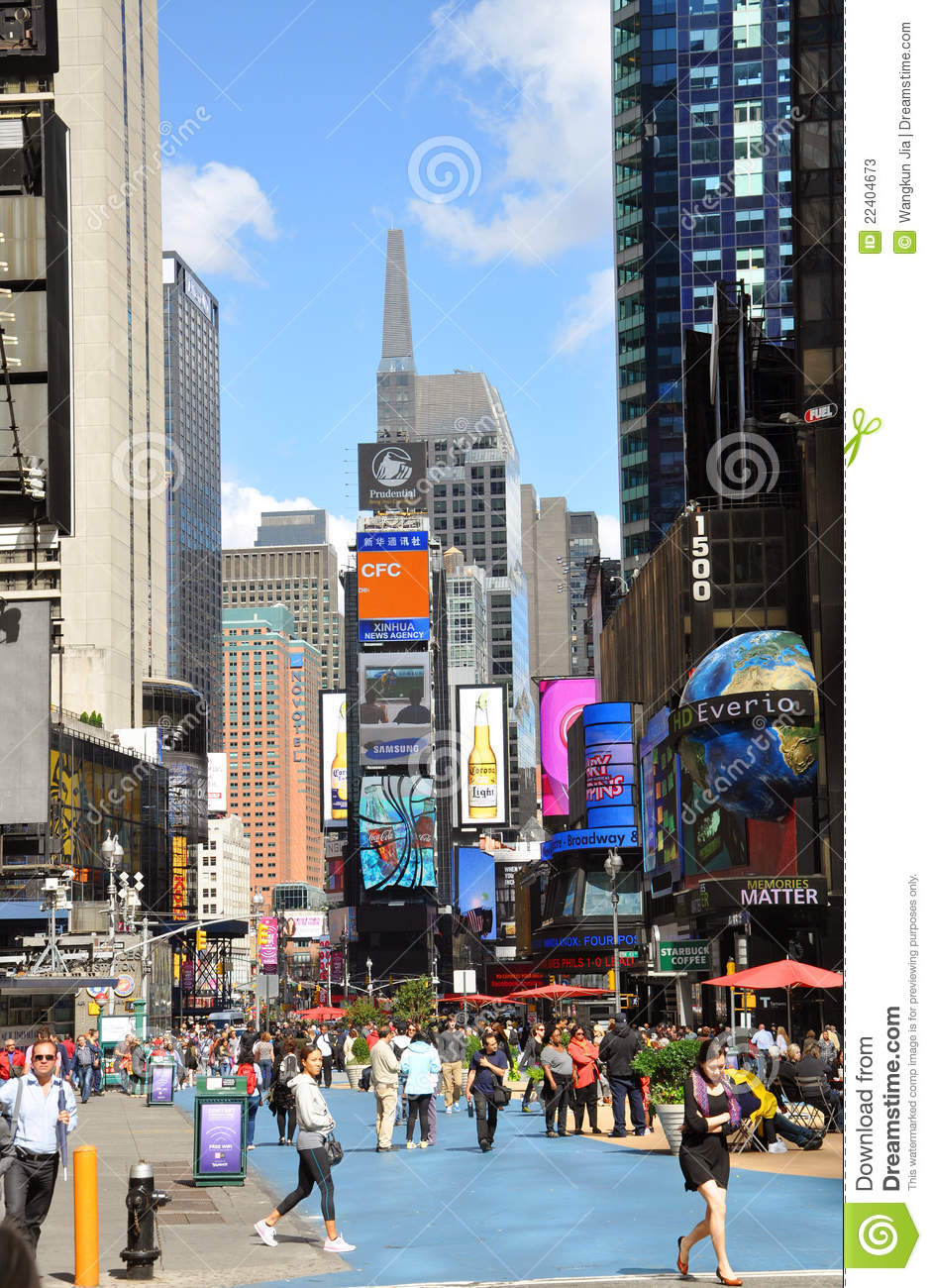 Broadway and Times Square, New York City
