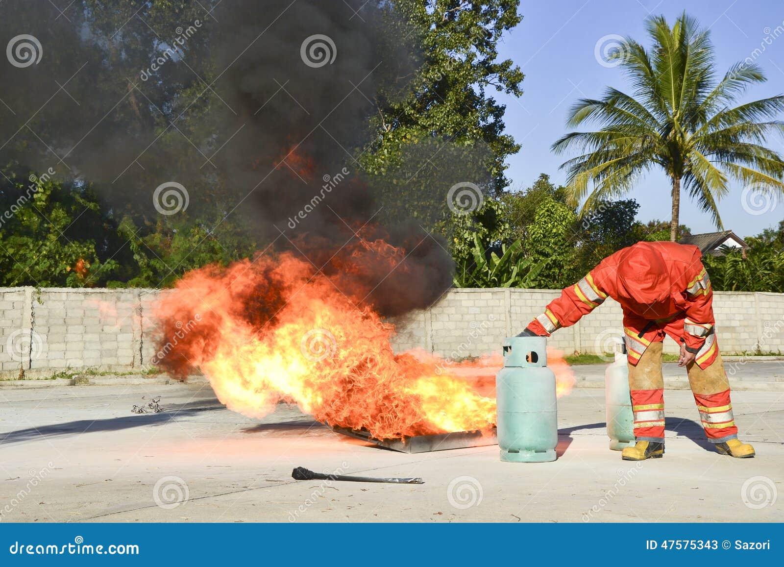 Brocas de fogo da prática