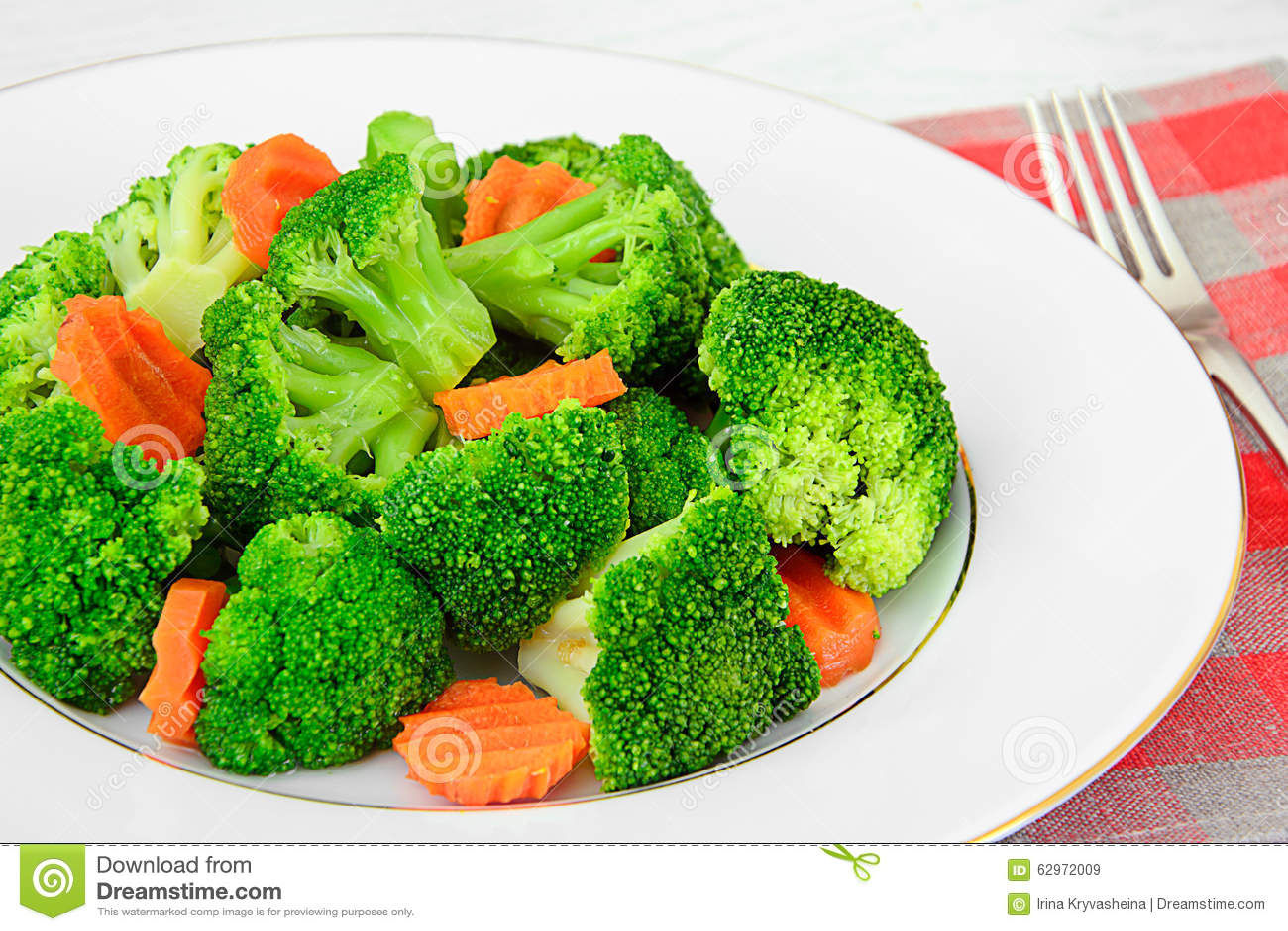 Broccoli och morötter Banta konditionnäring