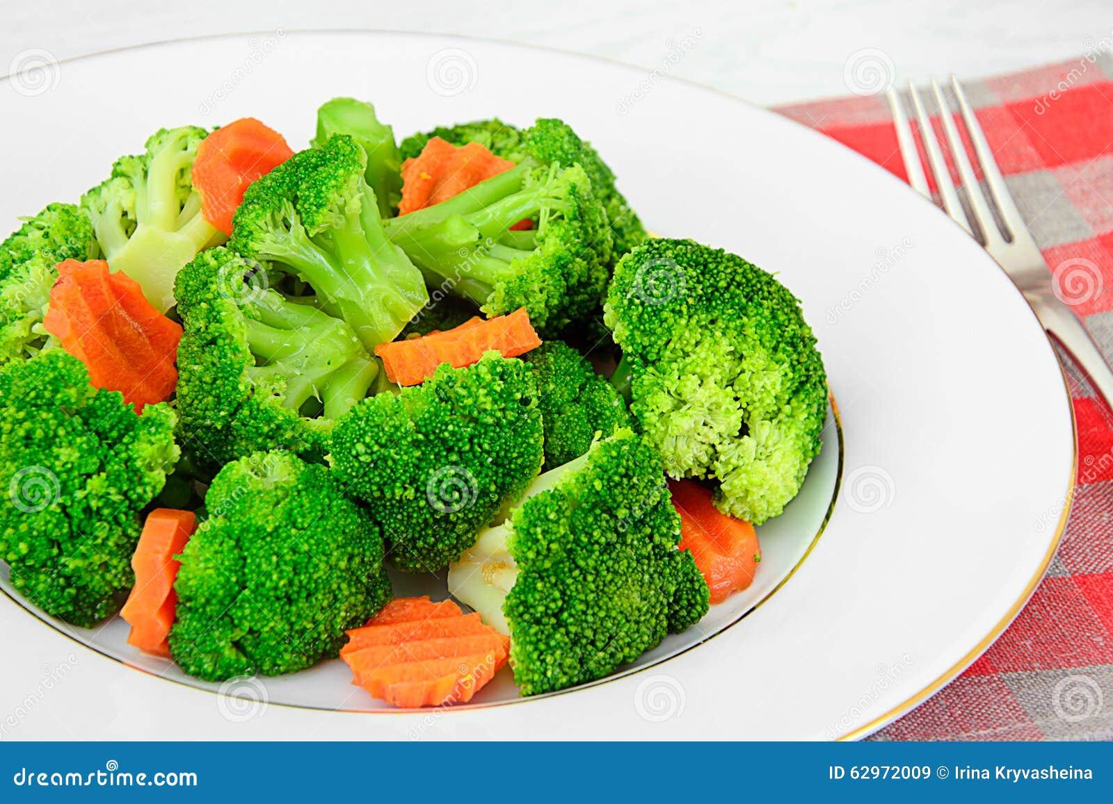 Broccolo e carote Nutrizione di forma fisica di dieta