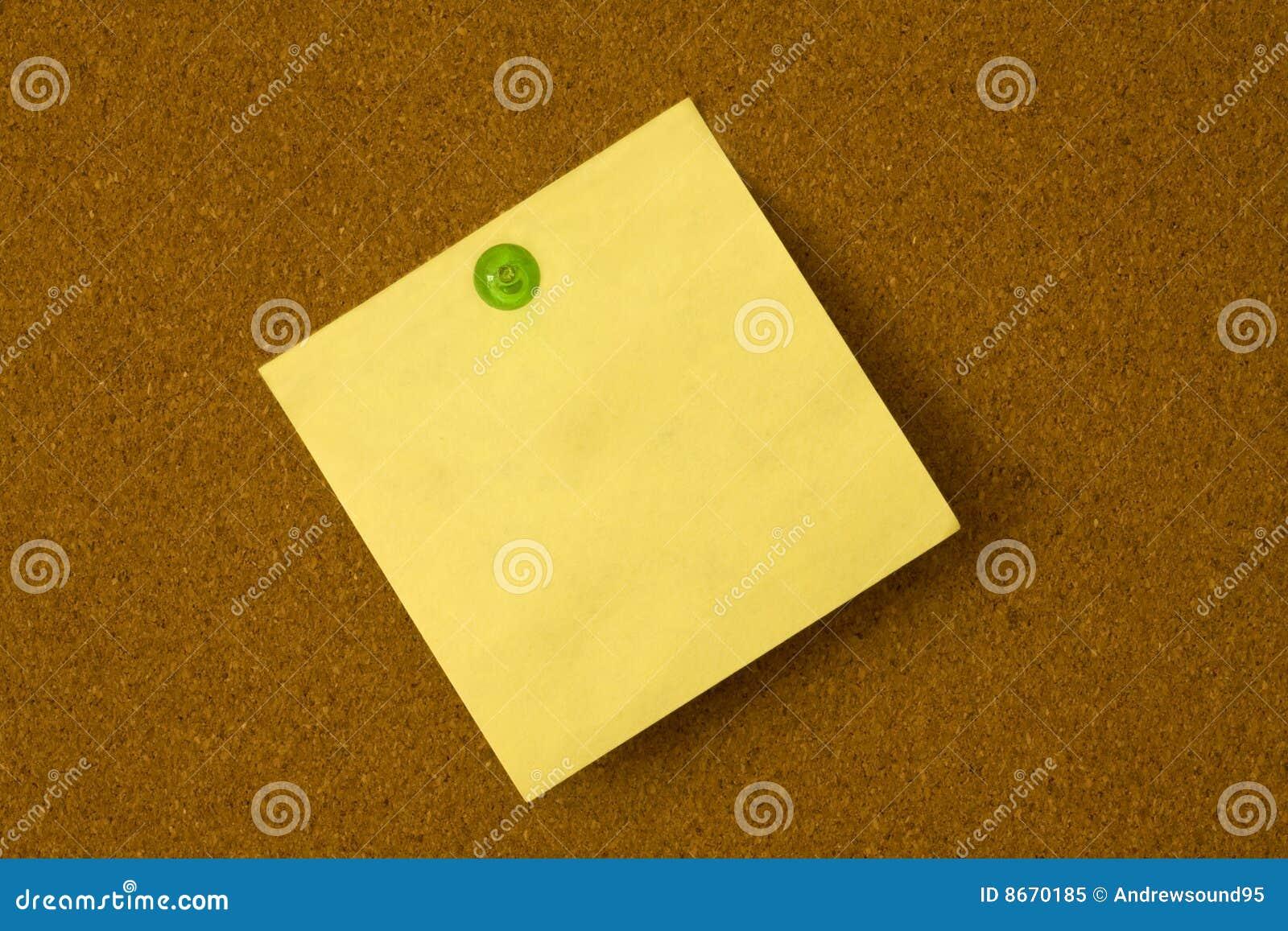 Broche de post-it et de vert