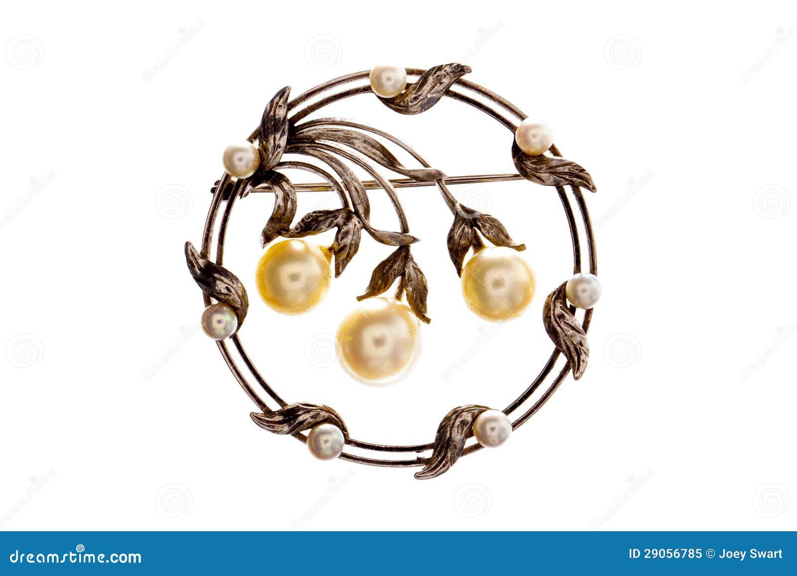 Broche victorienne de perle.