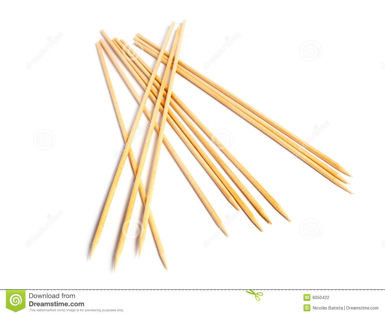 Brochette Wooden Sticks Stock Photography - Image: 6050422