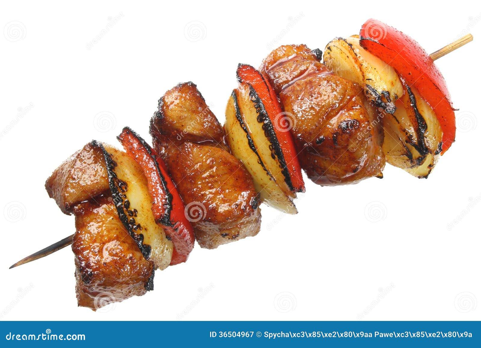 Brochettes faites de viande de porc