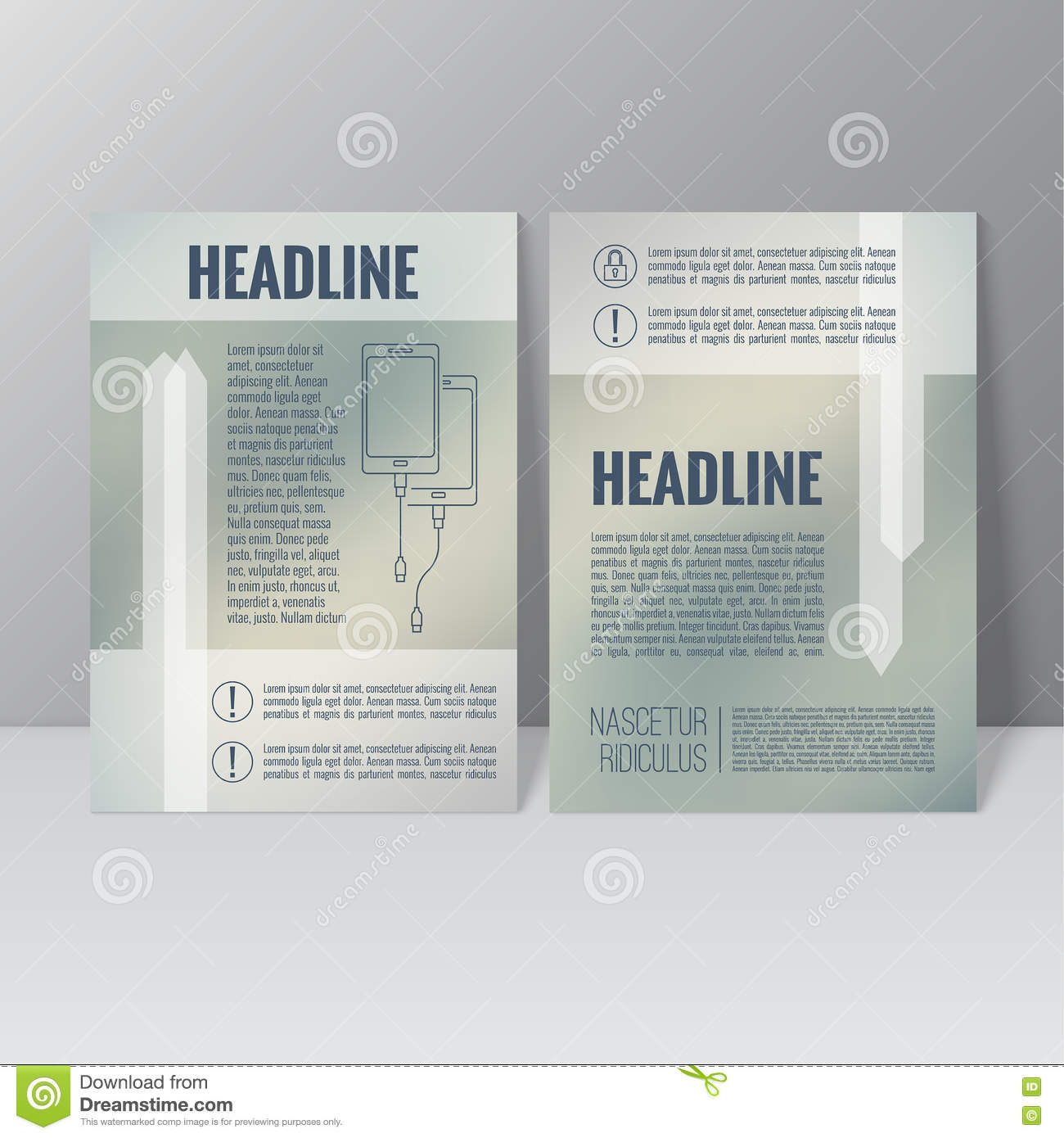 brochure annual report stock vector illustration of layout 75231457