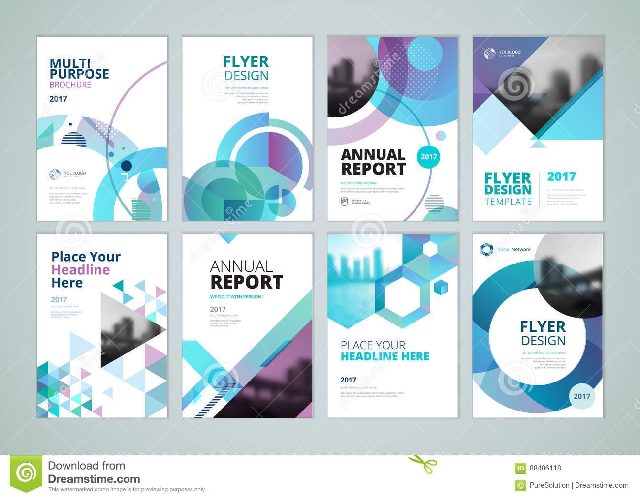 Brochure  Annual Report  Flyer Design Templates In A4 Size