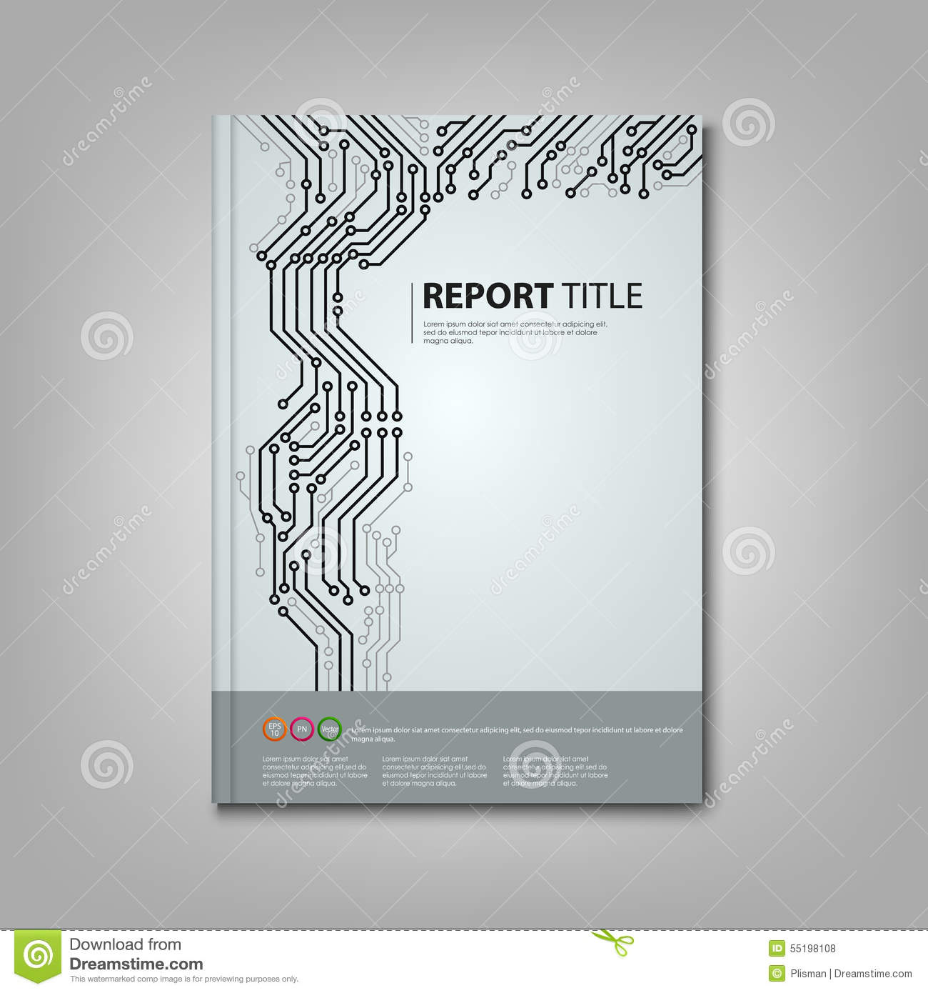 Brochure Book With Printed Circuit Board Template Stock Vector ...