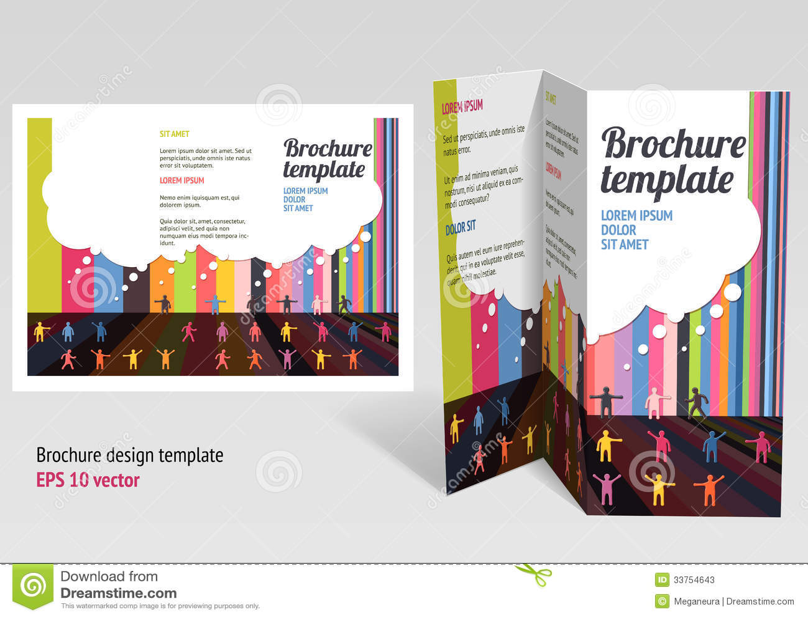 Brochure, Booklet Z-fold Layout. Editable Design T Stock Photos ...