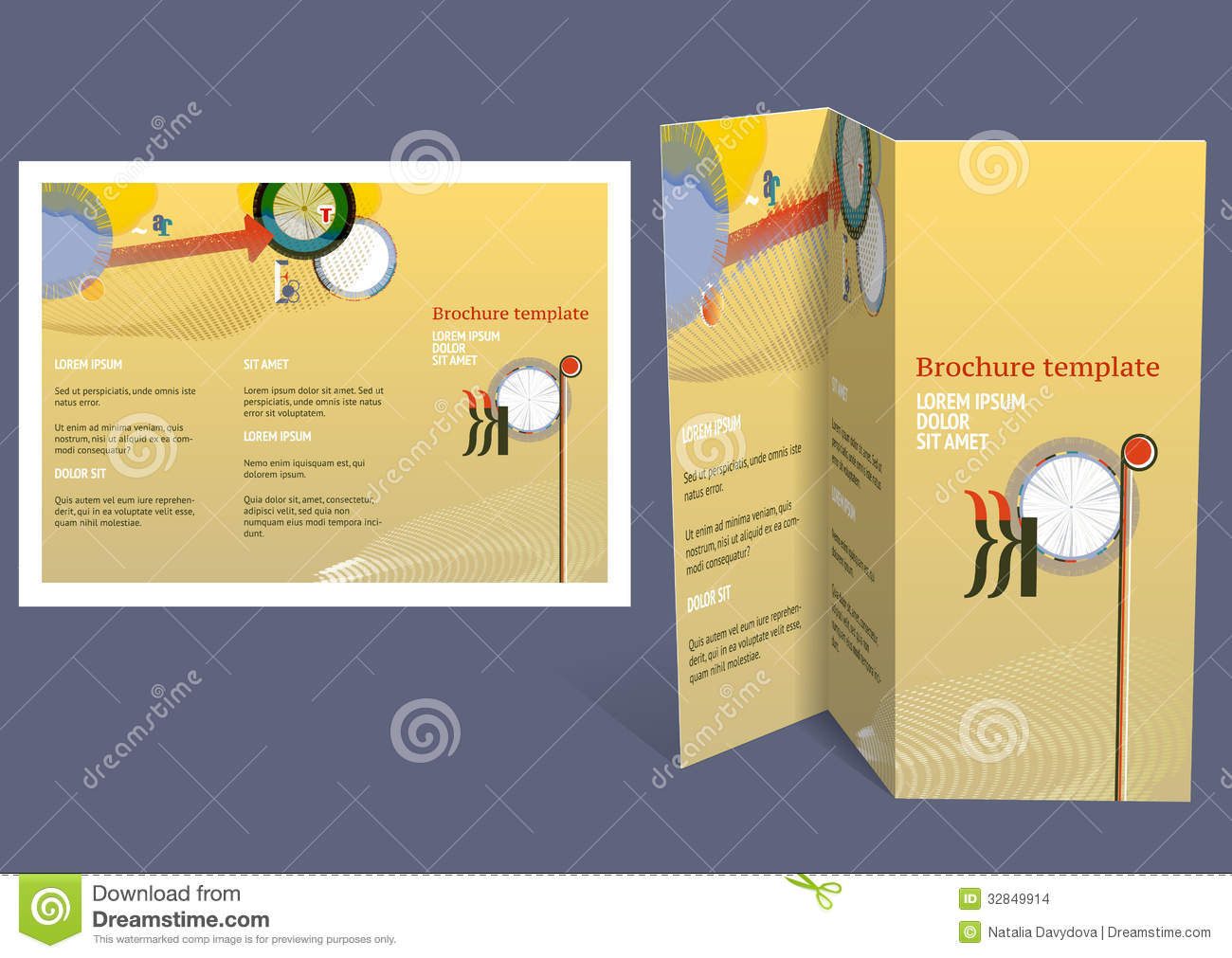 Brochure, Booklet Z Fold Layout. Editable Design Template  Booklet Template Free Download