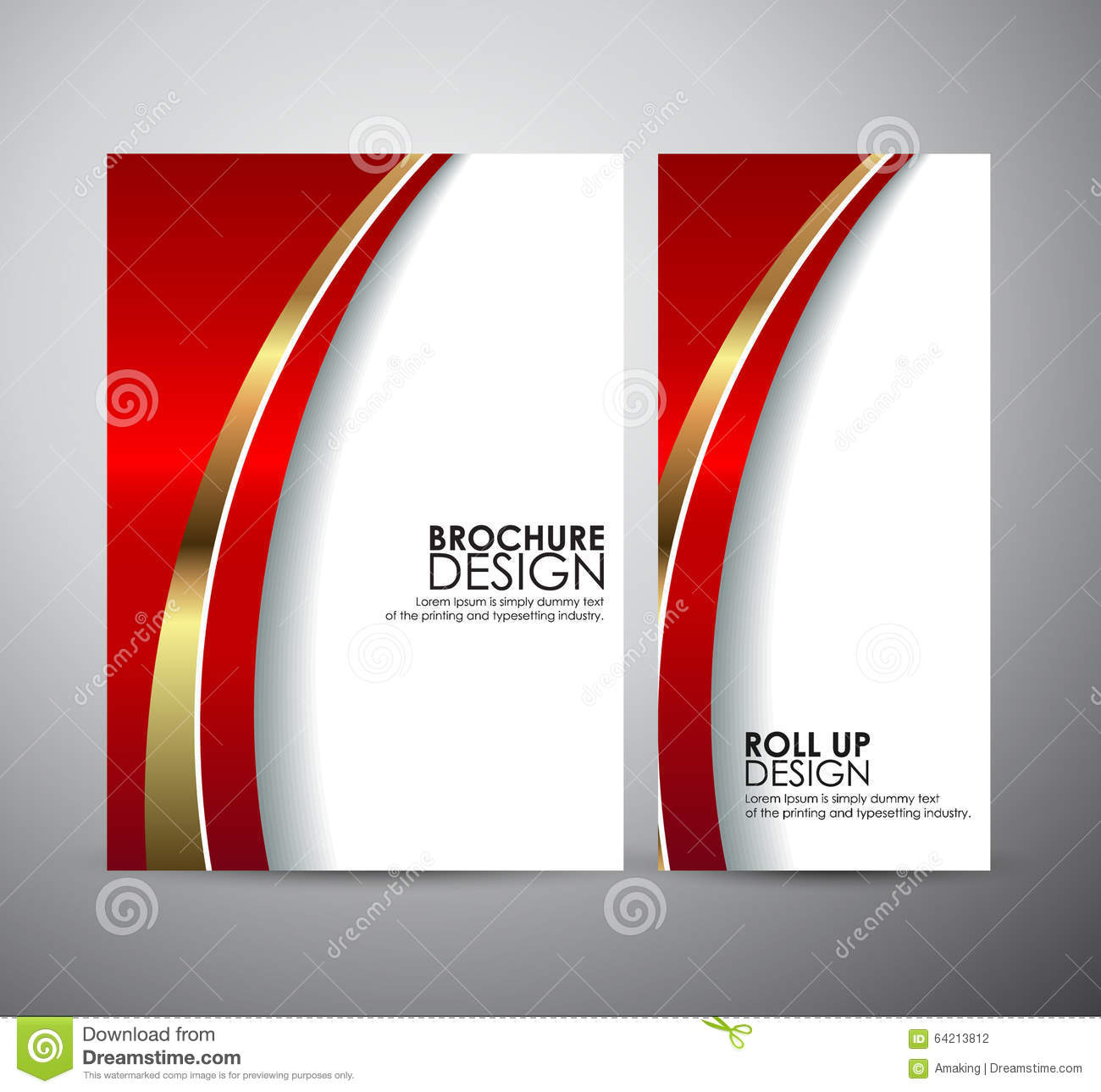 Brochure business design abstract red line background for Background for brochure design