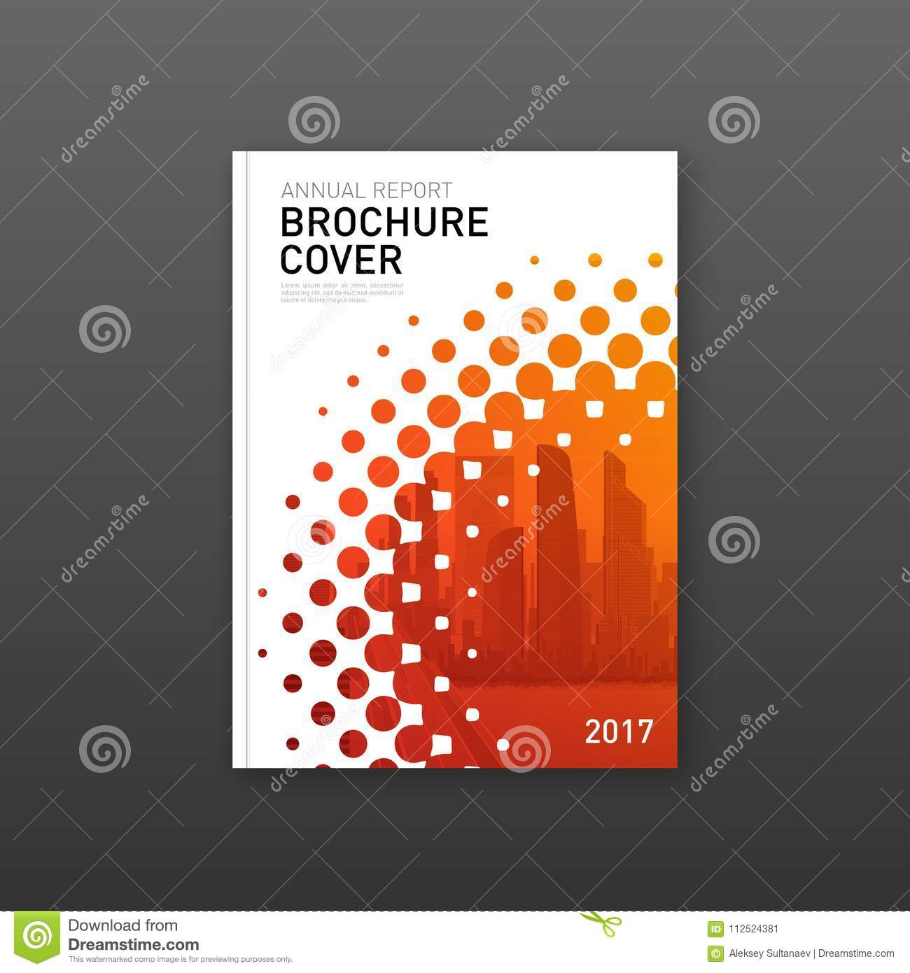 brochure cover design template for construction or technology