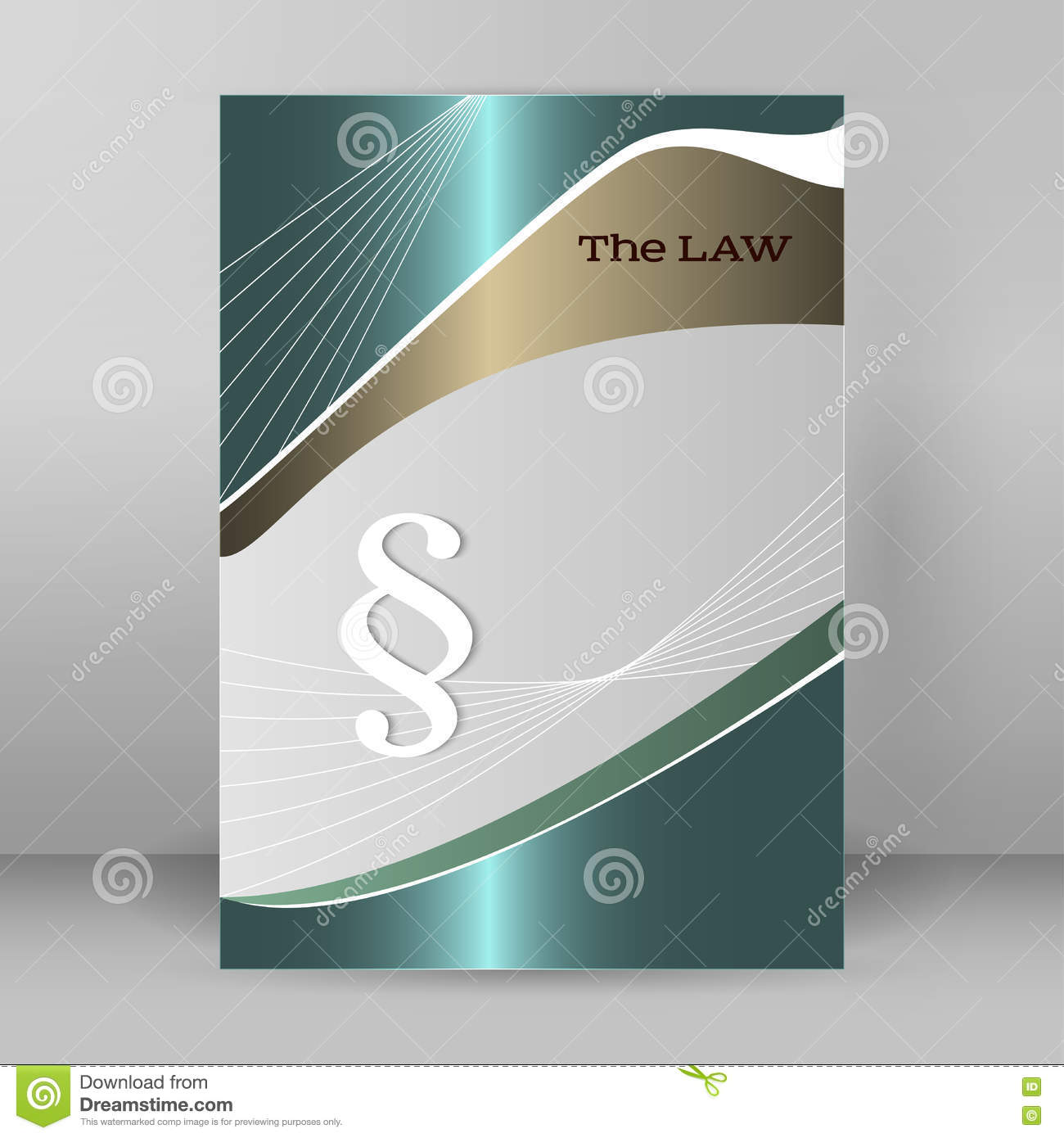 brochure cover page legal report luster metal arrow stock vector