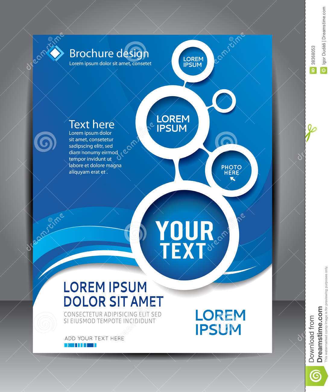 Brochure Design Content Background Stock Photos - Image: 38368053