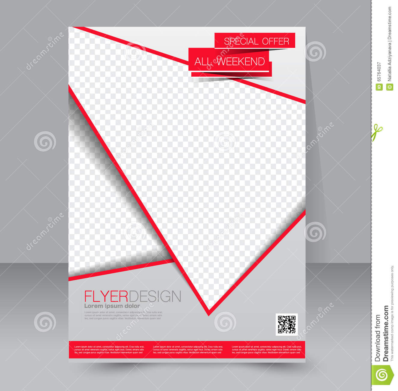 Brochure Design Flyer Template Editable A4 Poster