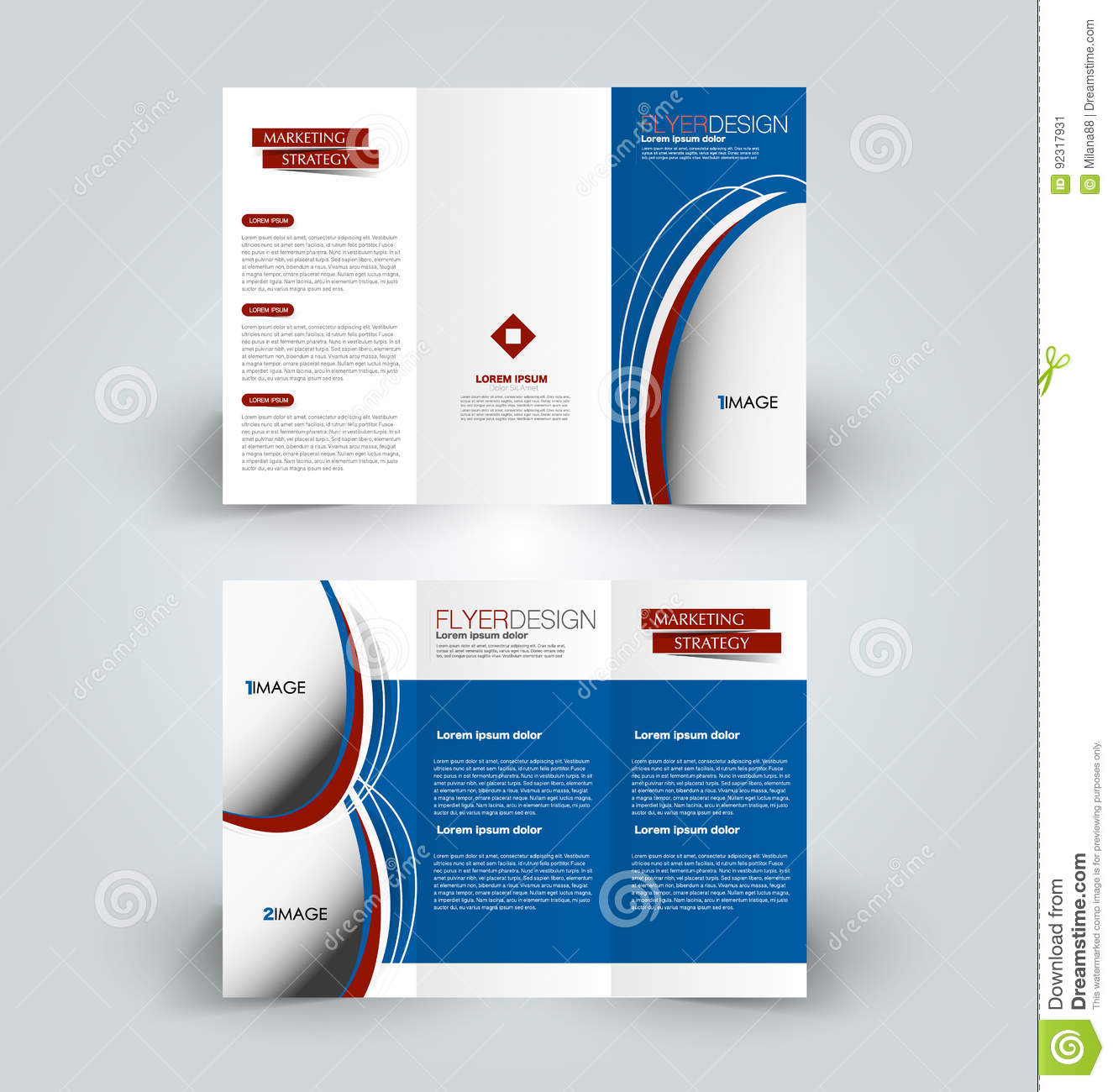 Brochure Design Template For Business Education Advertisement