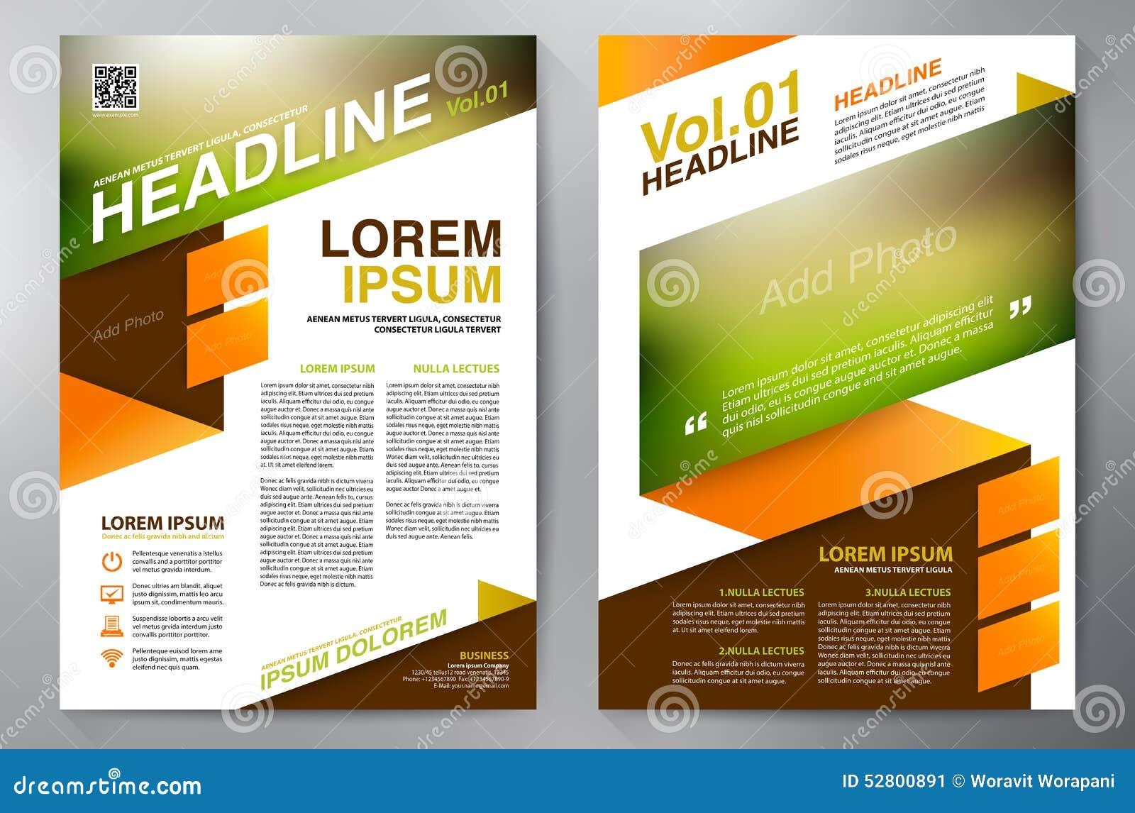 modern brochure template - brochure design a4 template stock vector image 52800891