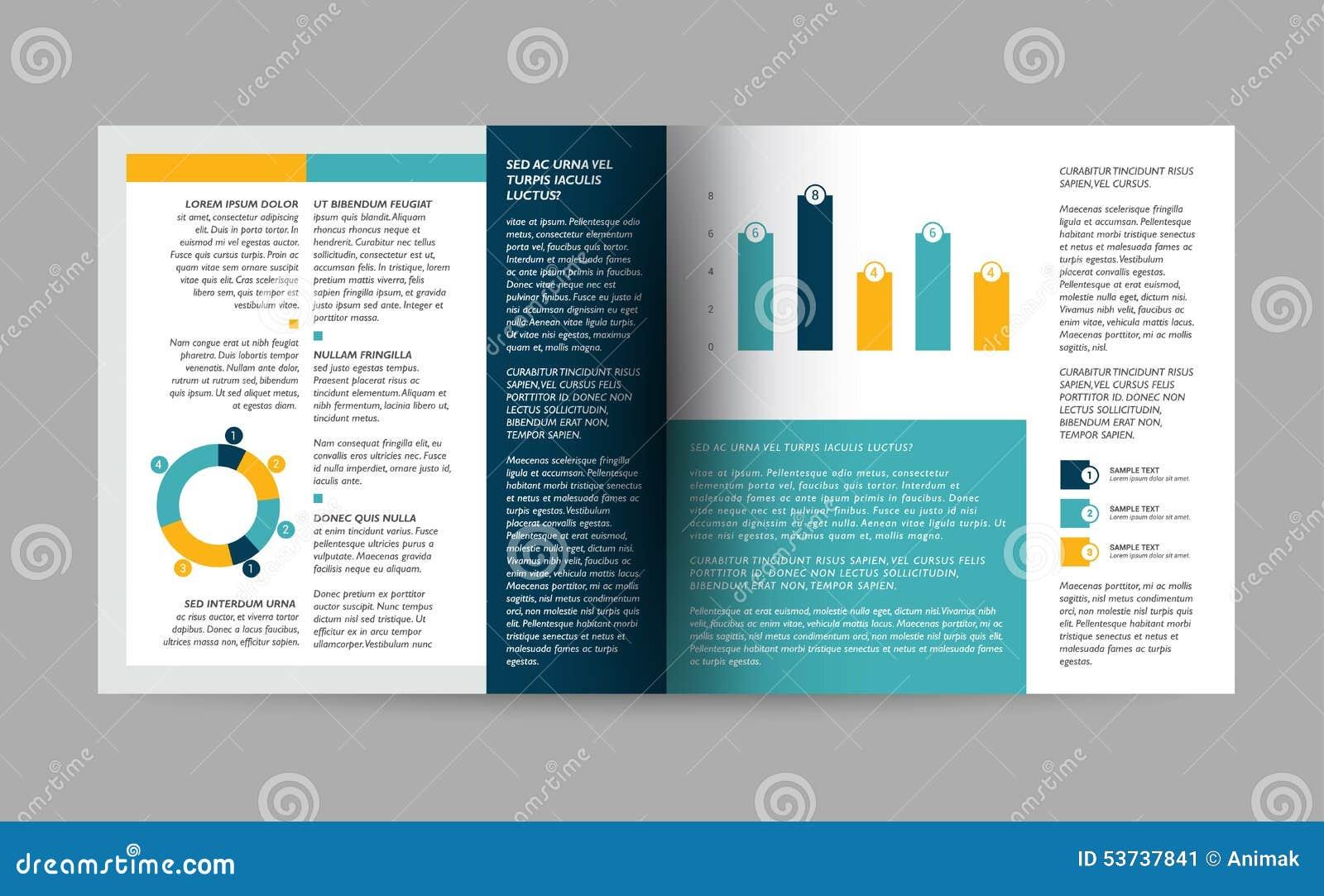 Brochure Design Template Stock Vector Image 53737841