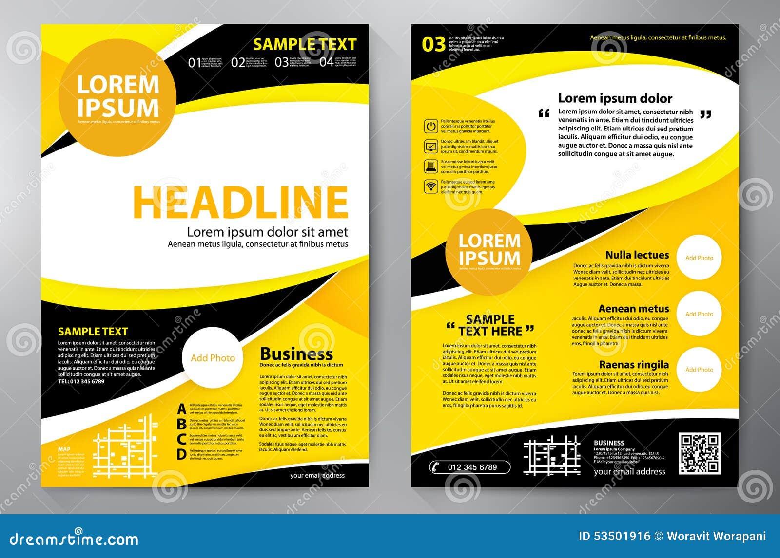 a4 brochure template - brochure design a4 template stock illustration image