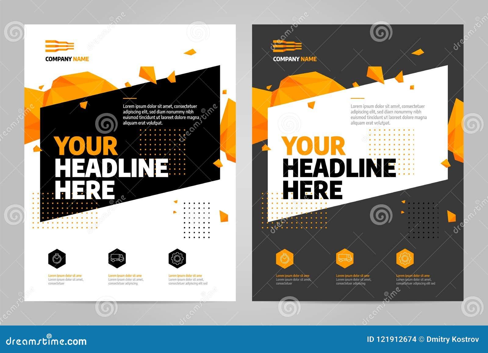 Brochure design template vector.