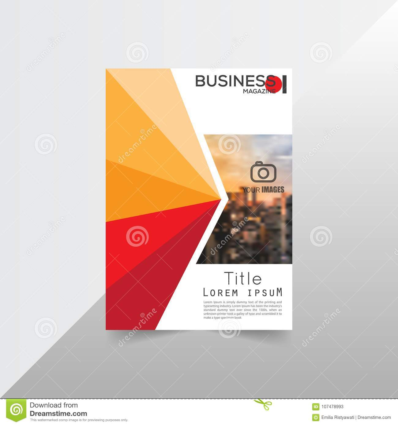 Layout Brochure Template Flayer Magazine Cover Design For A