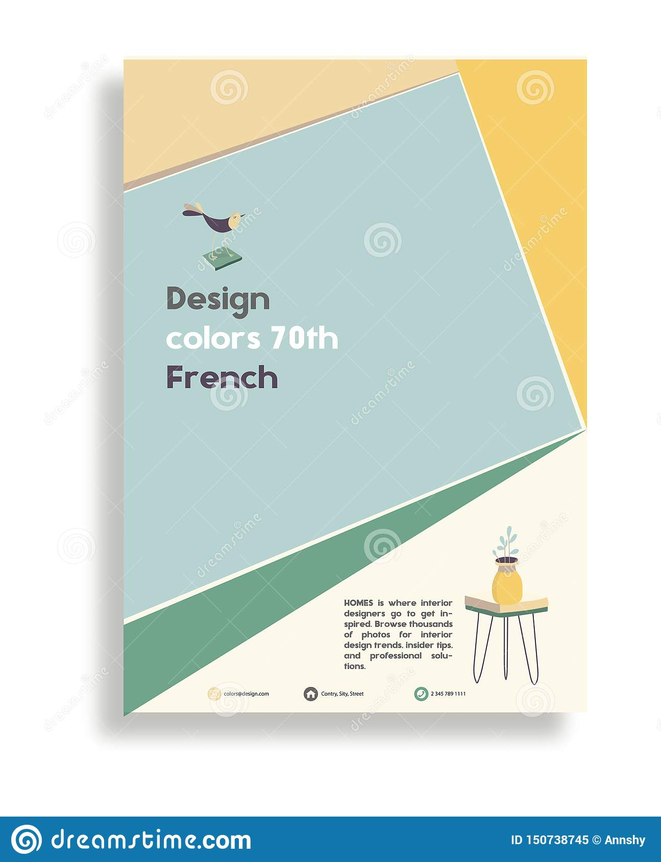 Room Design Layout Templates: Brochure Design Template Vector Flyer Action Abstract