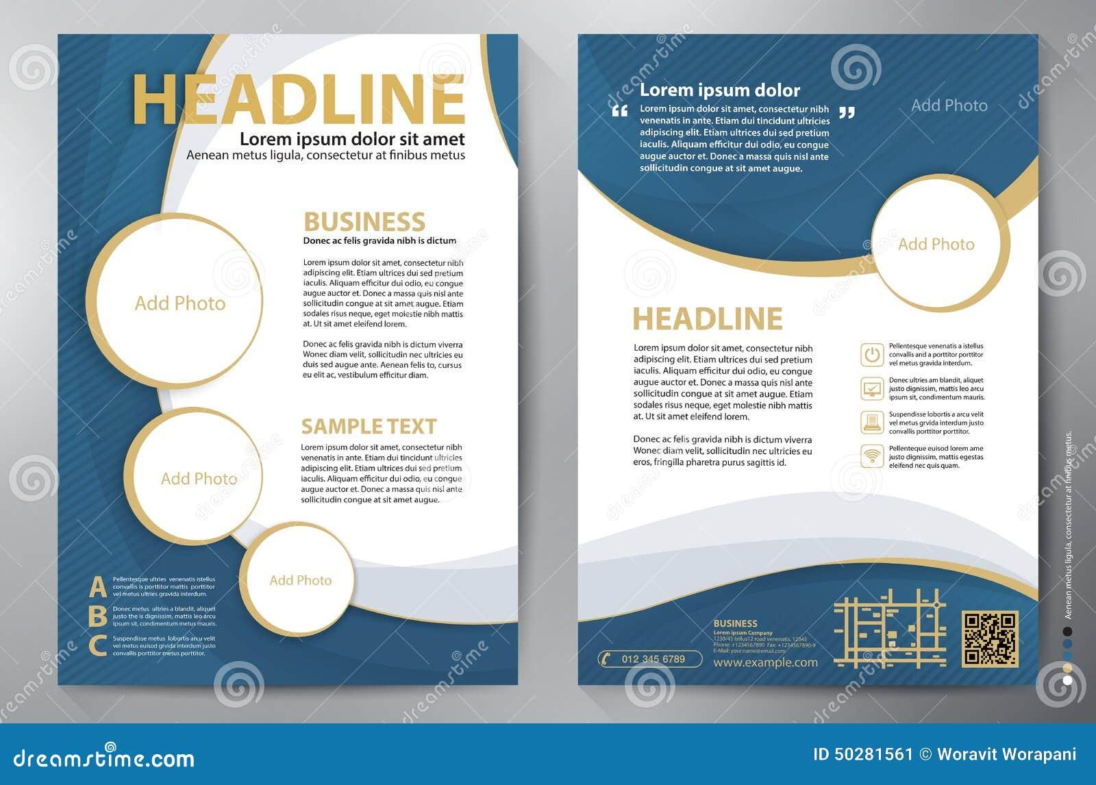 Brochure Design A4 Vector Template Stock Vector - Image: 50281561