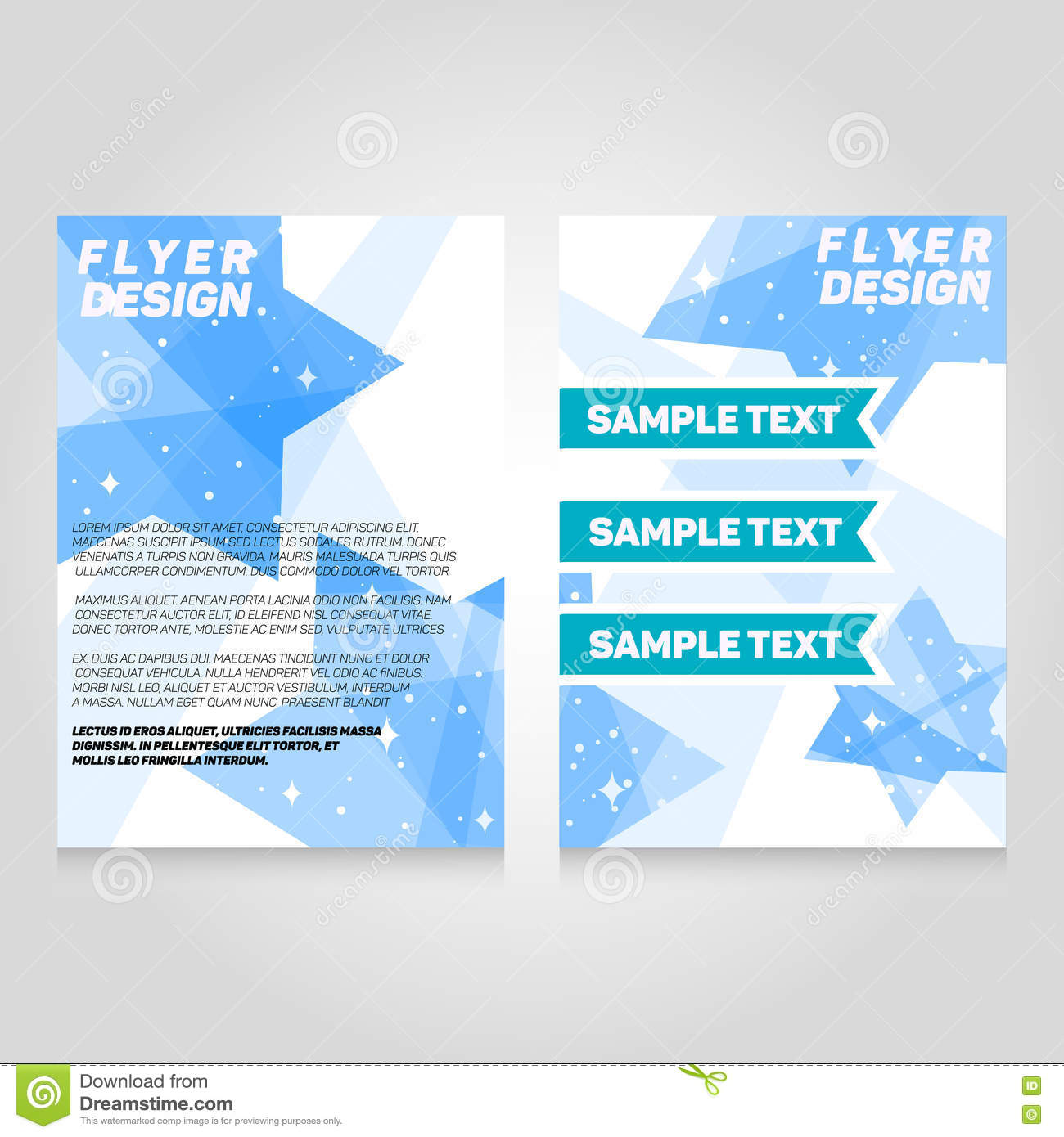 Brochure flier design template. Vector concert poster illustration.