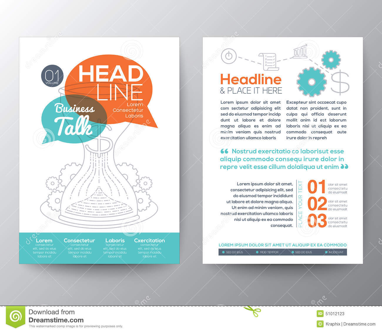 brochure flyer design layout template with business