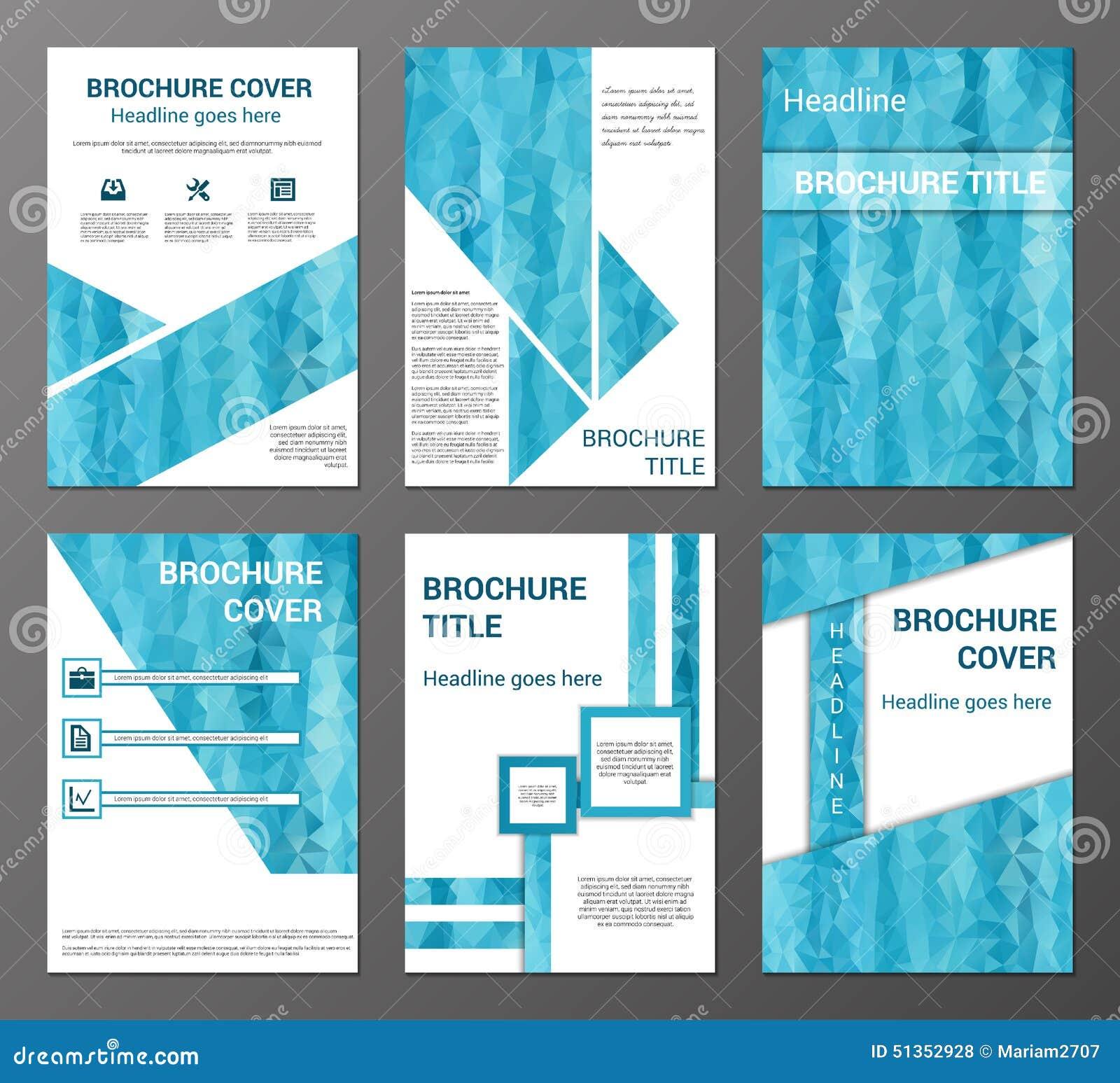Brochure Design Front: Brochure And Flyer Design Templates Set Stock Vector