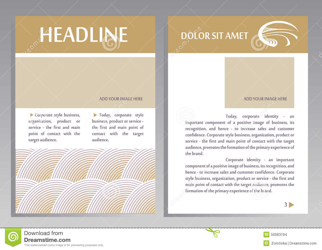 Brochure Flyer Design Vector Template In A4 Size Vector – Point of Contact Template