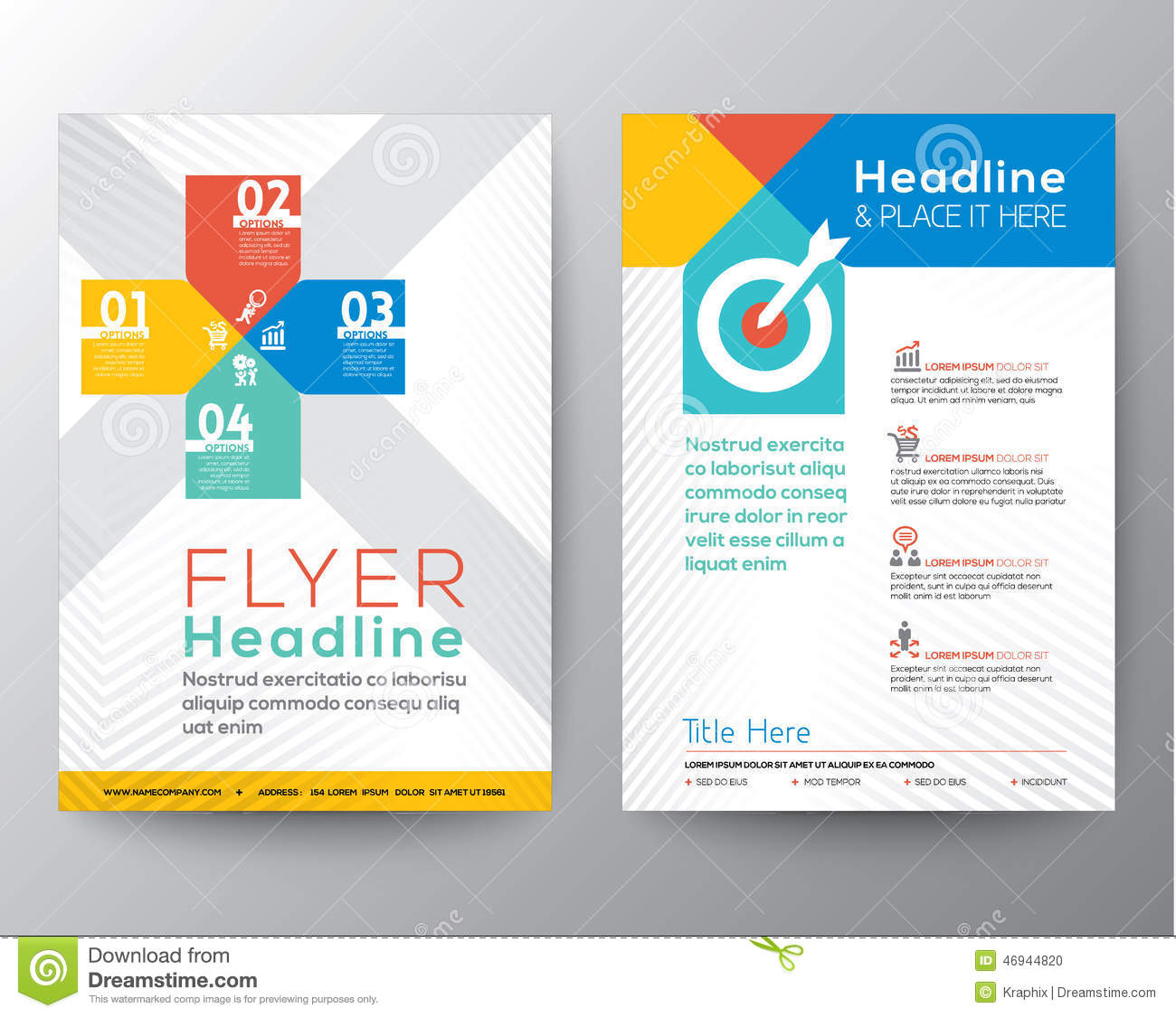 Brochure flyer graphic design layout vector template stock for Graphic design brochure templates