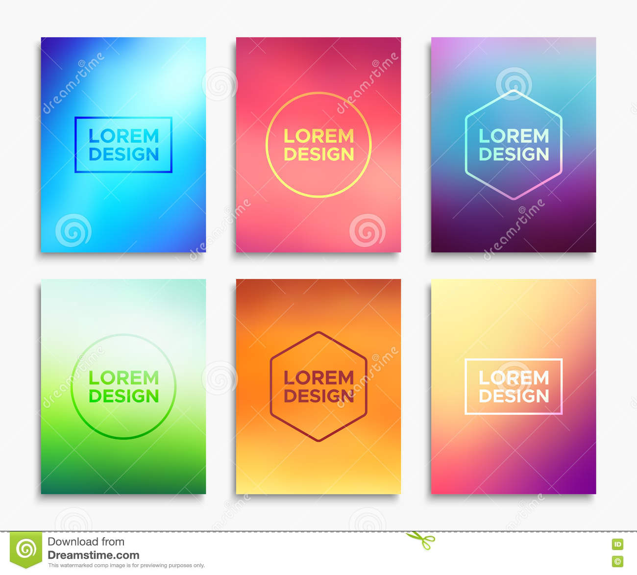 Brochure Flyer Layouts In A4 Size. Vector Banners Stock Vector ...