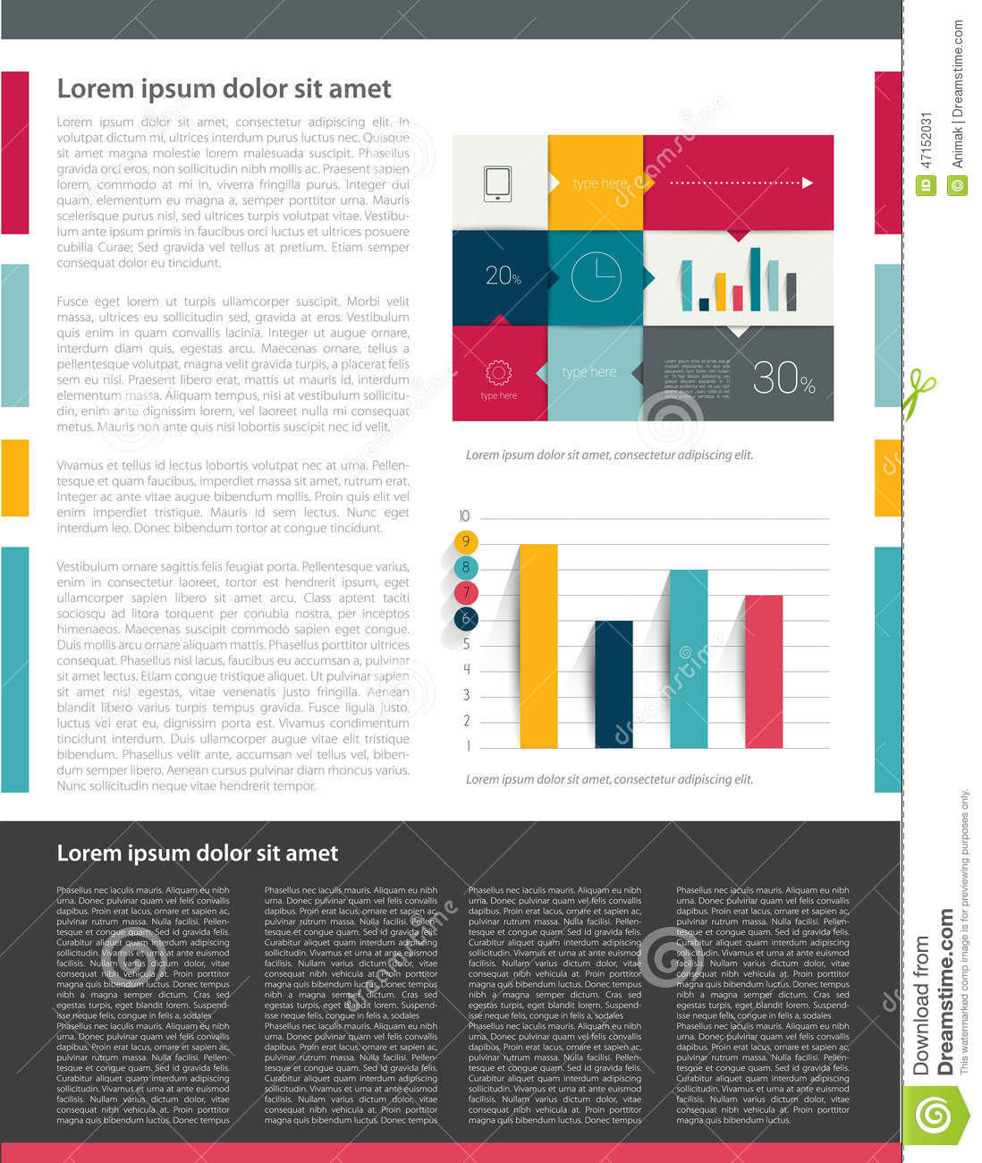 Brochure Flyer Newsletter Annual Report Layout Template Stock