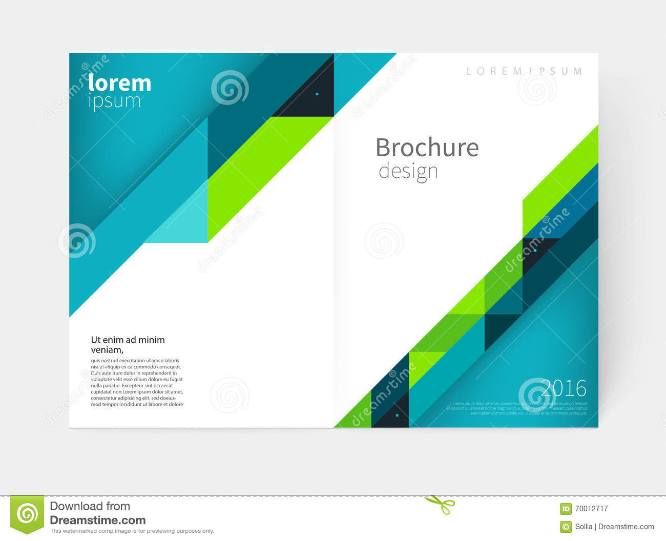 Blue And Pink Annual Report Templatecover Designbrochure Flyer – Free Report Cover Templates