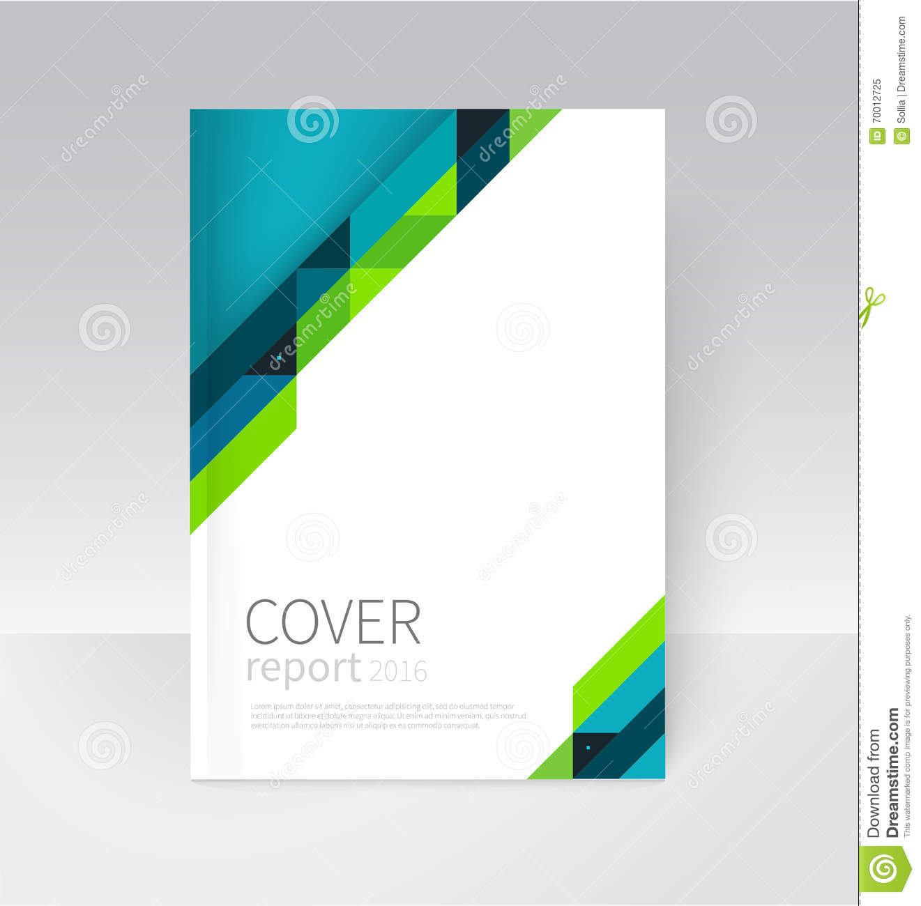 brochure flyer poster annual report cover template stock vector