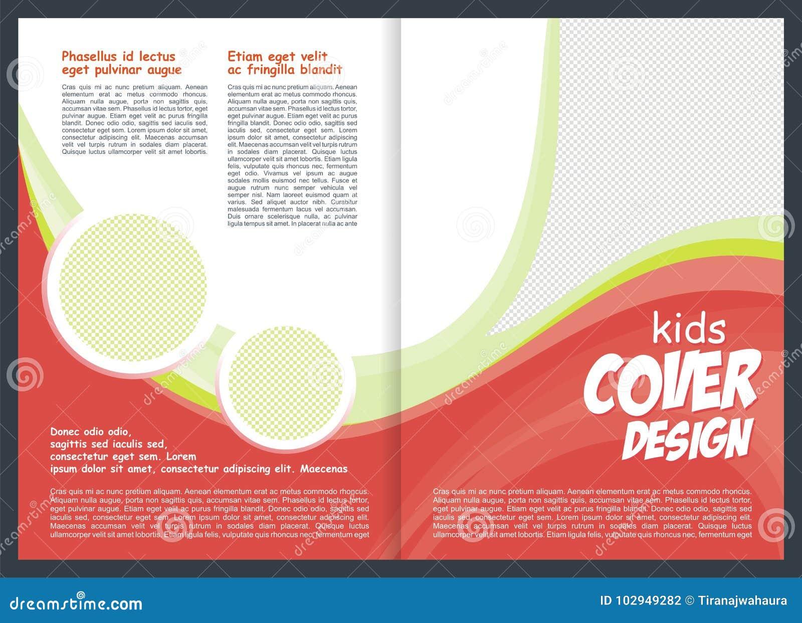 Brochure Flyer Template Design For Kid Stock Vector Illustration