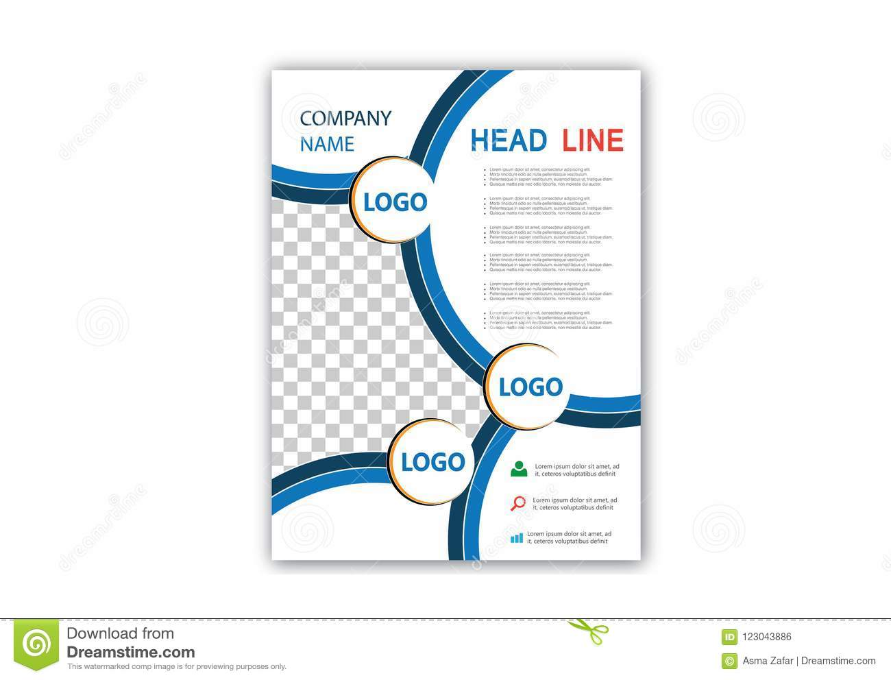 brochure flyer template magazine cover booklet layout poster annual