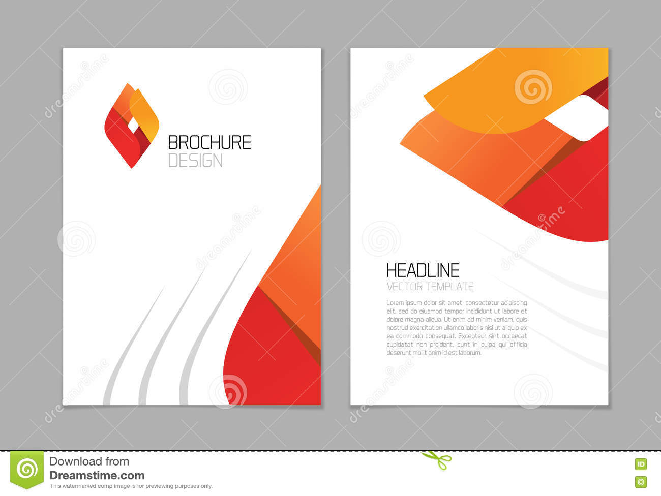 Brochure flyer vector design a4 booklet layout template geometric royalty free vector pronofoot35fo Choice Image