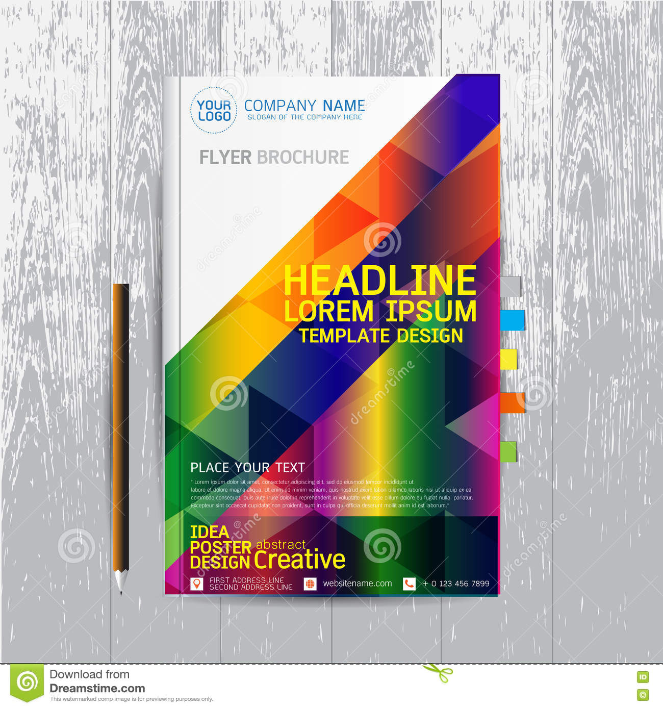 Poster design layout templates - Brochure Flyers Poster Design Layout Template In A4 Size With