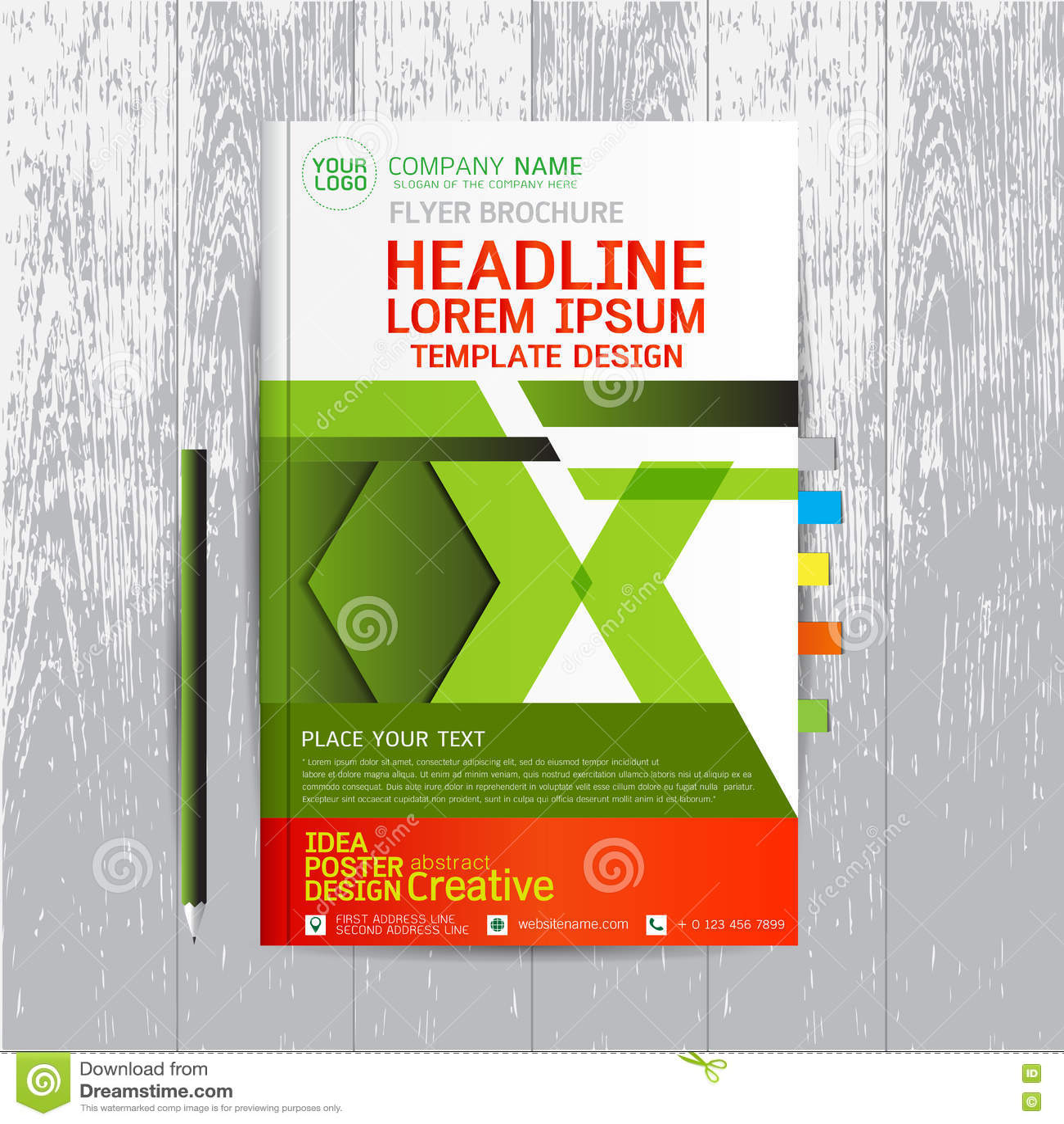 Poster design layout templates - Brochure Flyers Poster Design Layout Template In A4 Size With Stock Vector