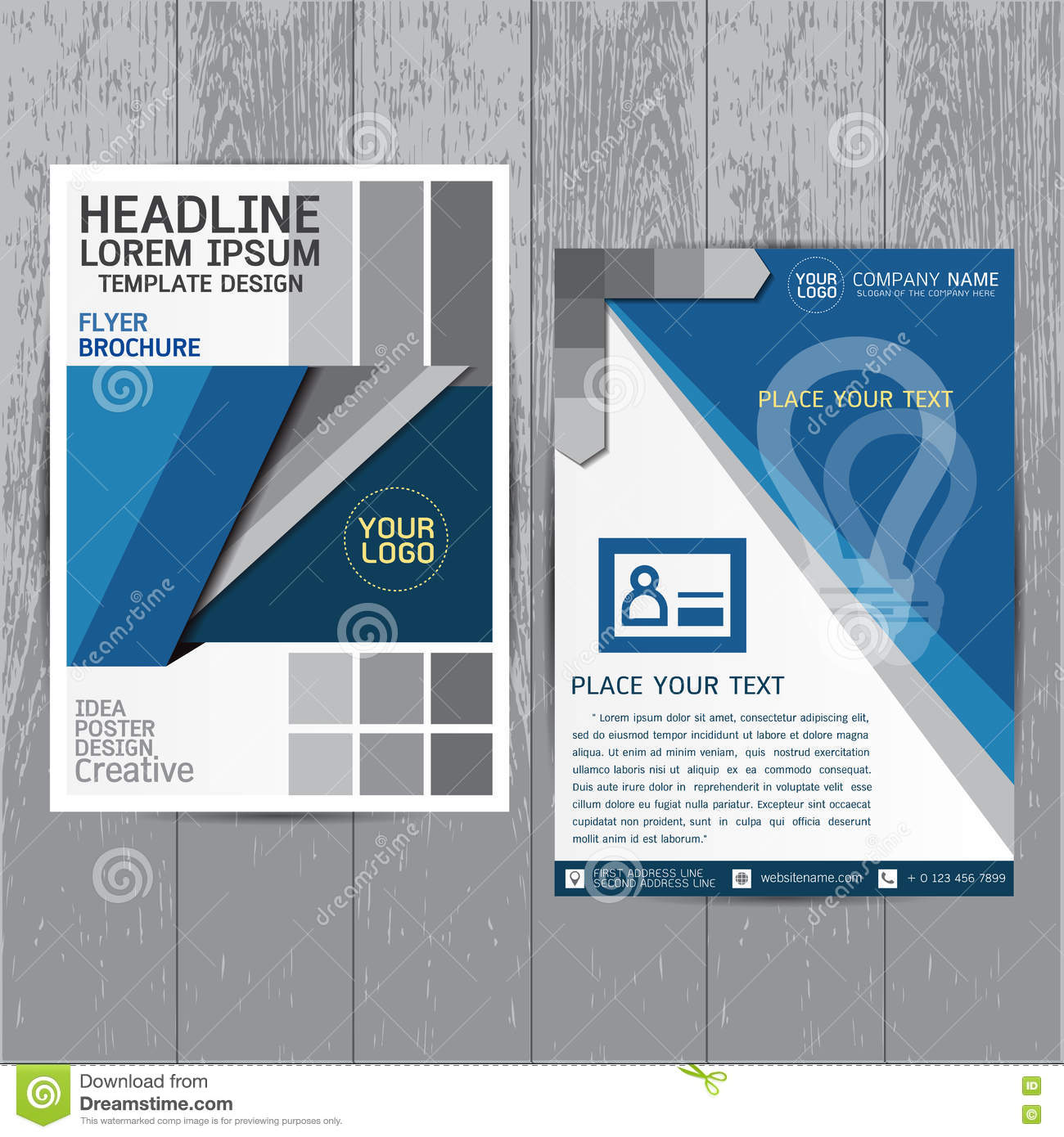 Poster design layout templates - Brochure Flyers Poster Design Layout Template