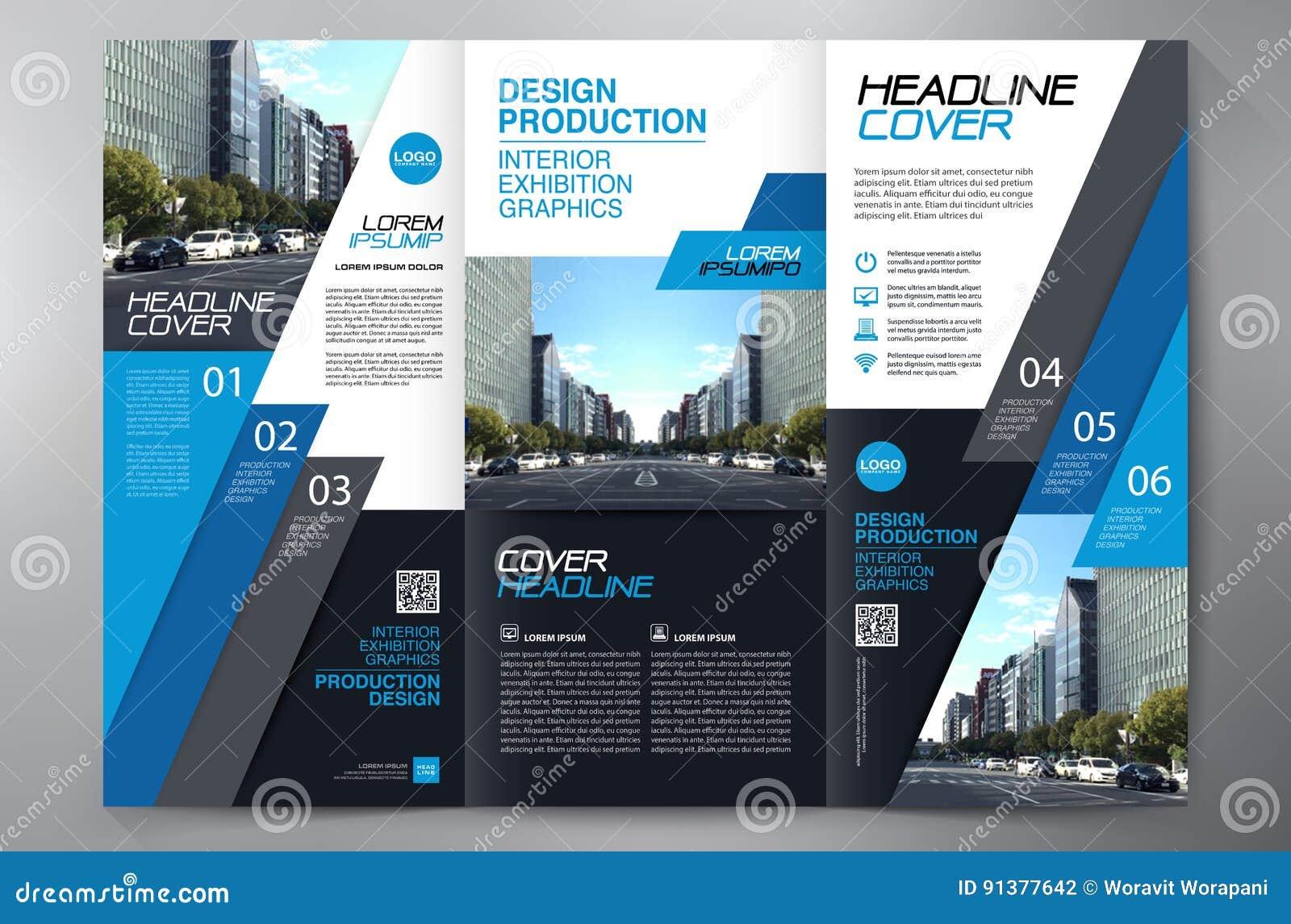 Brochure 3 Fold Flyer Design A4 Template