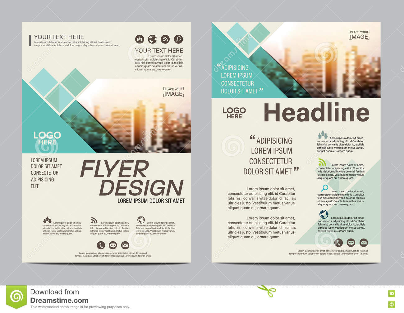Brochure Layout Design Template. Annual Report Flyer