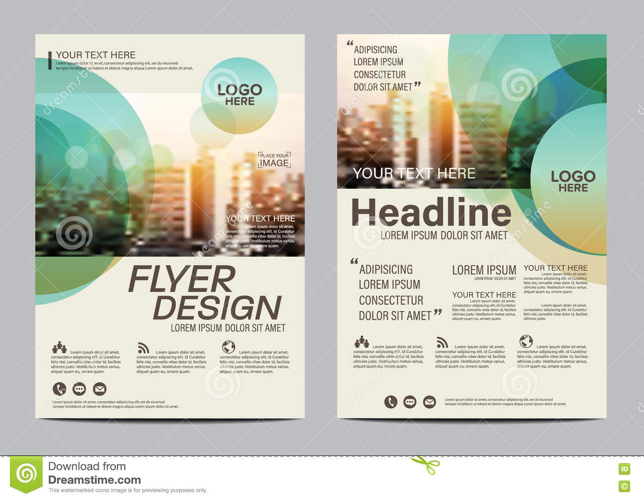 Modern brochure cover design vector illustration for Brochure cover designs