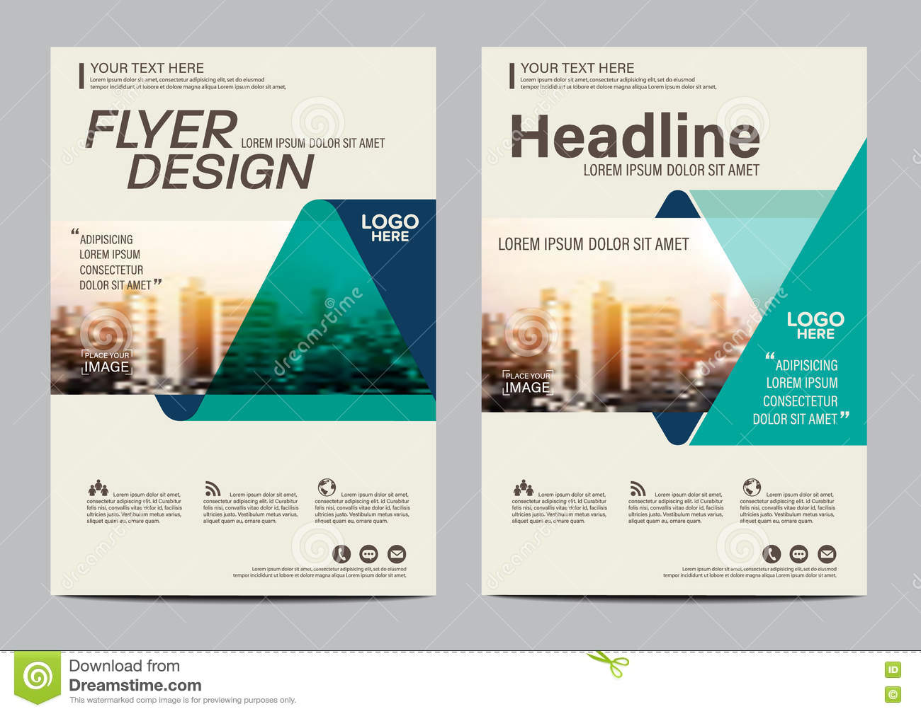 Brochure Layout design template. Annual Report Flyer Leaflet cover Presentation Modern background. illustration in A4
